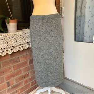 Jennifer Adams Gray Knit Long Slinky Skirt One Sz